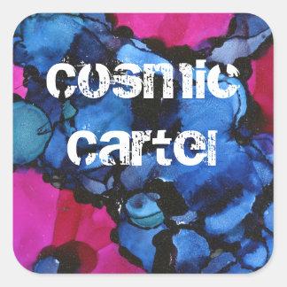 #5 cosmic square sticker