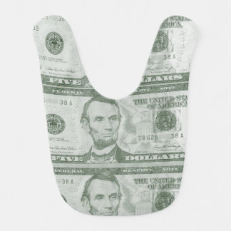 5 Dollar Bill Baby Bib