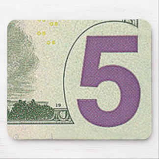 5 Dollar Bill Mouse Pad