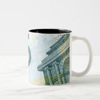 5 dollar bill Two-Tone coffee mug