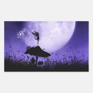 5 Fairy Silhouette 2 Rectangular Sticker
