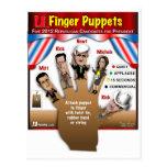 5 GOP Finger Puppets Postcards