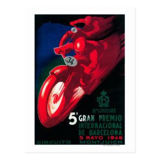 5 Gran Premio Internat'l Motorcycle Poster Postcard