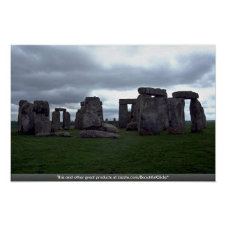 5 horizon test Stonehenge, England rock formation Poster