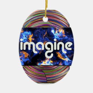 5 imagine ceramic ornament