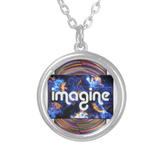 5 imagine silver plated necklace