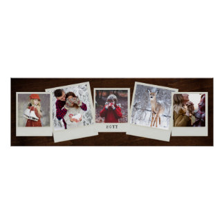 5 Instant Film Photos Photo Gift Collage Poster