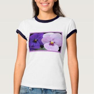 5 Lavender Blue Pansies Tee Shirts