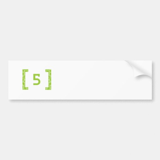 #5 Lime Green Bumper Sticker