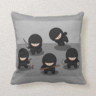 5 Little Cartoon Ninjas Cushion