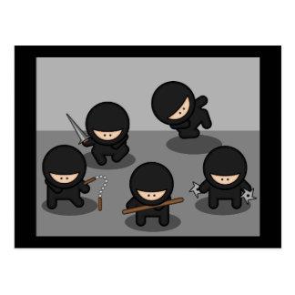 5 Little ninjas Postcard