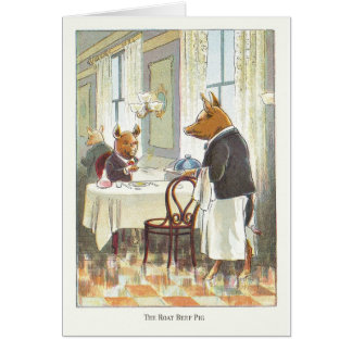 5 Little Pigs: The Roast Beef Pig Greeting Card
