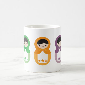 5 Matryoshka Sweethearts Coffee Mug