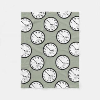 5 O'Clock Clock Fleece Blanket