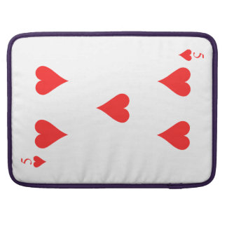 5 of Hearts Sleeves For MacBook Pro