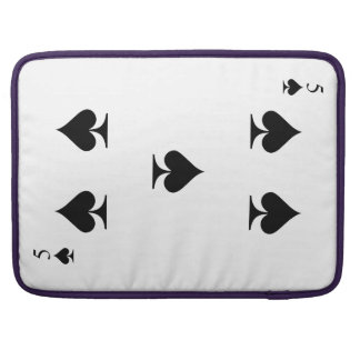 5 of Spades Sleeves For MacBooks