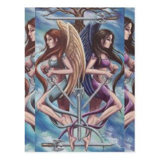 5 of Swords Postcard Tarot Postcard
