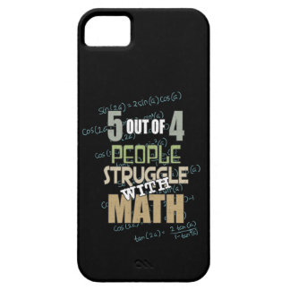 5 out of 4 People Struggle With Math - Novelty Barely There iPhone 5 Case