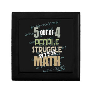 5 out of 4 People Struggle With Math - Novelty Gift Box