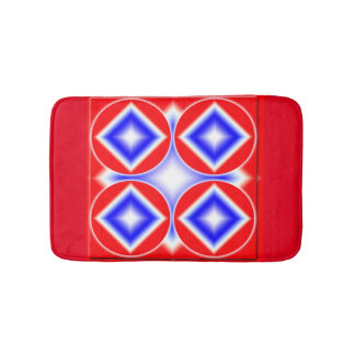 5 Patriotic Diamonds Custom Small Bath Mat Bath Mats