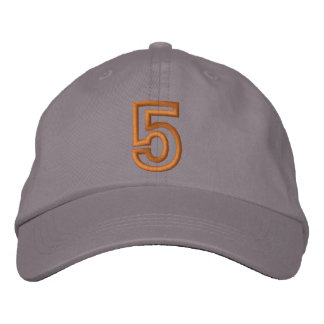 """""""5"""" Small Athletic Number Embroidered Hats"""