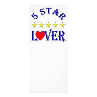 5 Star Lover Blue Custom Rack Cards