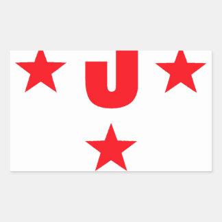 5 stars deluxe rectangular sticker