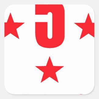 5 stars deluxe square sticker