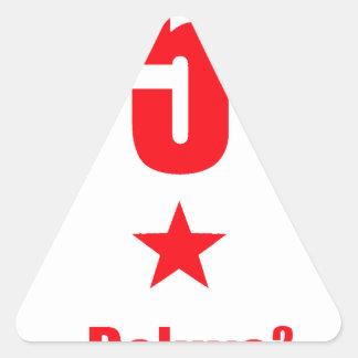 5 stars deluxe triangle sticker