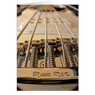 5 String Bass Greeting Card