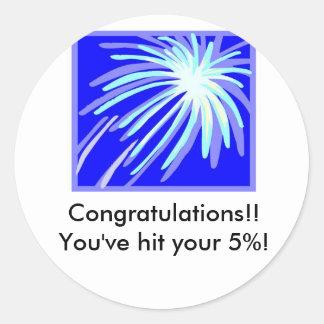 5% Target sticker - WW