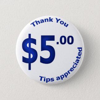 $5 Thank You Button