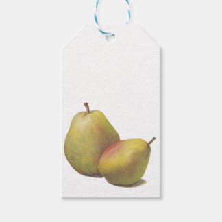 5 vintage pears illustrated gift tags