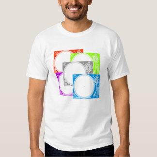 5 vinyl turntable dj t-shirt