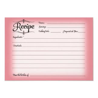 5 x 7 Bridal Shower Recipe Card Desserts Retro 13 Cm X 18 Cm Invitation Card
