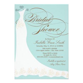 5 x 7 Elegant Dress Bridal Shower Invite