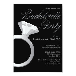 "5 x 7 Engagement Ring | Bachelorette Party Invite 5"" X 7"" Invitation Card"