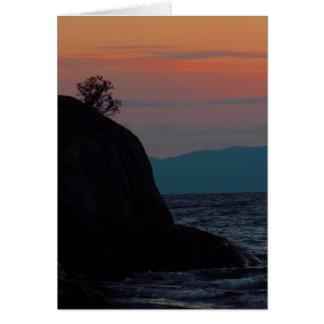"5"" x 7"" Flathead Lake Sunset Blank Card Montana"