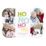 5 x 7 Ho Ho Ho Ho (colourful) | Holiday Photo Card 13 Cm X 18 Cm Invitation Card