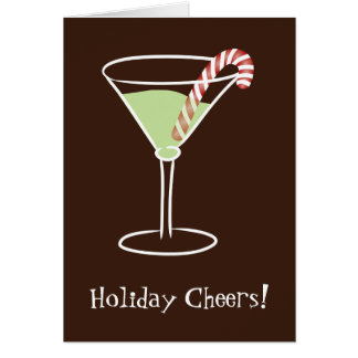 5 x 7 Holiday Cocktail Greeting Card
