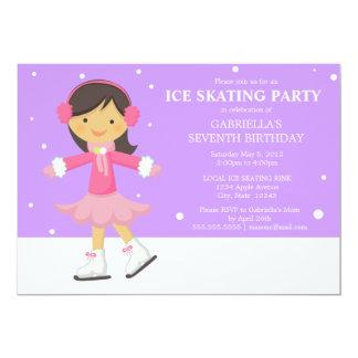 "5 x 7 Ice Skating | Birthday Party Invite 5"" X 7"" Invitation Card"