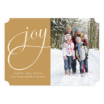 5 x 7 Joy (gold)   Holiday Photo Card Personalized Invites