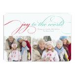 5 x 7 Joy To The World | Photo Holiday Card Invitations