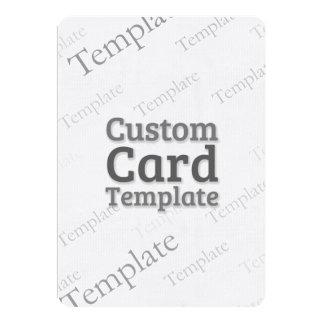 """5"""" x 7"""" Laid Ivory Invitation Custom Template 5"""" X 7"""" Invitation Card"""