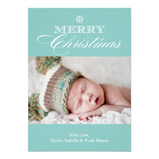 5 x 7 Merry Christmas | Photo Holiday Card Announcement