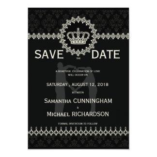 "* 5"" x 7"" Modern Laces Crown Wedding Passport Custom Invites"