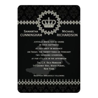 "5"" x 7""    Modern Laces Crown Wedding Passport Custom Invite"