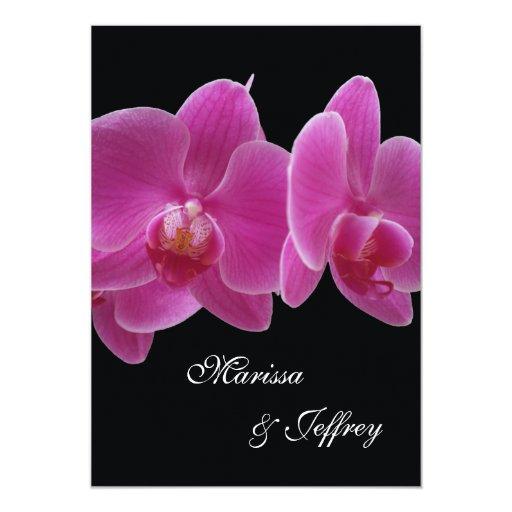 5 X 7 Orchid Wedding Invitation -- Purple Orchids