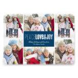 5 x 7 Peace, Love & Joy | Photo Holiday Card Announcements