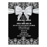 "5"" x 7""  Vintage Lace Bow Wedding Invitation"